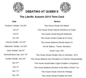 Term Card